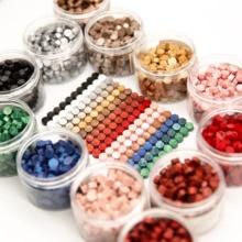 190pcs Sealing Wax box set Seal beans Stamp Beads for craft Envelope Wedding Wax seal Ancient Sealing Wax stamp Making Tools