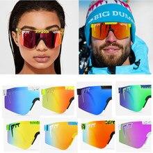 Nova marca rosa vermelho pit viper óculos de sol dupla ampla polarizada lente espelhada tr90 quadro uv400 proteção wih caso