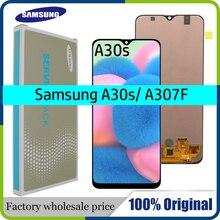 """מקורי 6.4 """"AMOLED לסמסונג גלקסי A30s A307F A307 A307FN LCD תצוגת מסך החלפת Digitizer עצרת + שירות חבילה"""