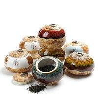 Caixa de armazenamento de café caixa de armazenamento de café de cerâmica de multi cores de chá retro elegante jar frutas secas latas seladas 5 tamanhos chinês estilo|Conj. de chá| |  -