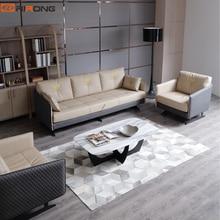 Lxury элегантный дом гостиная для офисных работников кожаный диван стул мраморный каменный диван набор