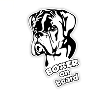 Car Sticker Cartoon Lovely Dog Boxer on Board Automobiles Motorcycles Accessories PVC Decal for VW Polo Passat 17cm*11 1cm cheap The Whole Body Glue Sticker 0 01cm Stickers Creative Stickers 11cm Not Packaged