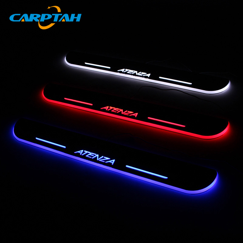 CARPTAH Trim Pedal Car Exterior Parts LED Door Sill Scuff Plate Pathway Dynamic Streamer light For Mazda 6 Atenza 2013 – 2018