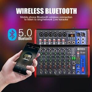 Image 3 - Debra Pro 8 canal DJ regulada con 99DSP Efecto Reverb Bluetooth 5,0 USB de karaoke USB para PC micrófono grabación condensador