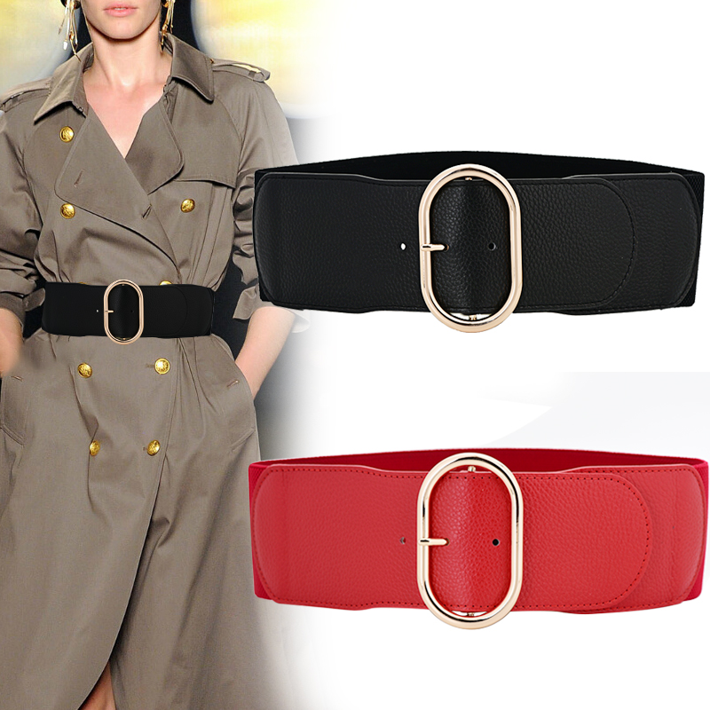 Real Leather Elastic Wide Cummerbunds For Women Stretch Waistbands For Dress Fashion Cowskin Corset Belts Wedding Decorate Gifts