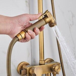 """Image 5 - で設定ビデスプレー蛇口アンティークブロンズシャワーセット 8 """"シャワーヘッドシャワー蛇口 EL4010"""
