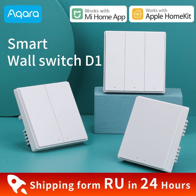 Aqara Smart Wall Switch D1 Wireless Switch D1 ZigBee Alice Siri voice remote control works with Xiaomi Mi Home amp Apple HomeKit APP