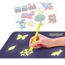 Светодиодный, волшебный, для рисования, сделай сам, Educaitonal, планшет, светящаяся доска для рисования граффити, светильник в темноте, для детей, Волшебная краска, игрушка