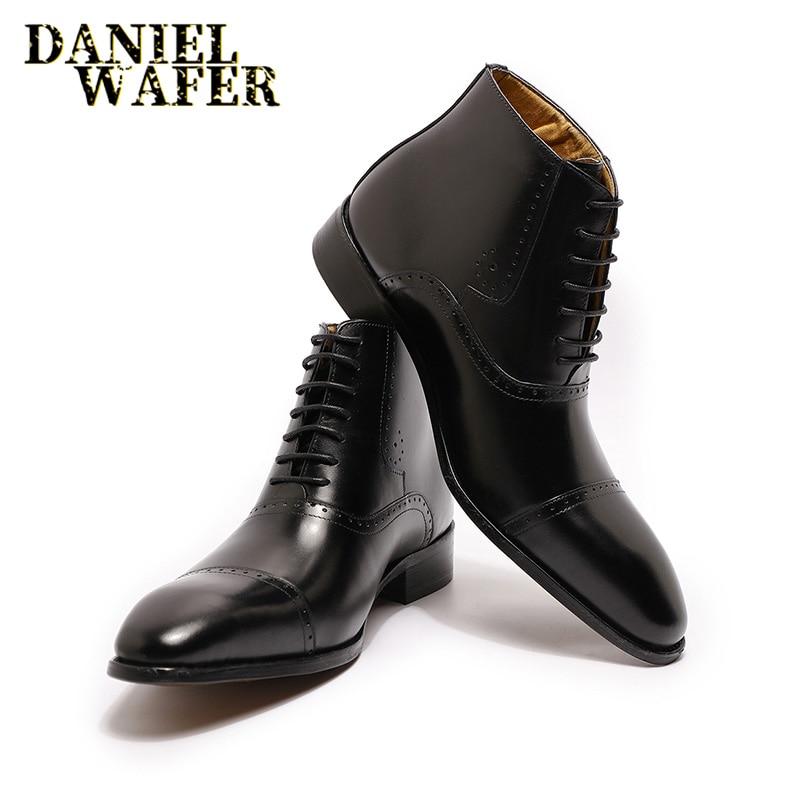 New Fashion Men Ankle Boots Men Formal