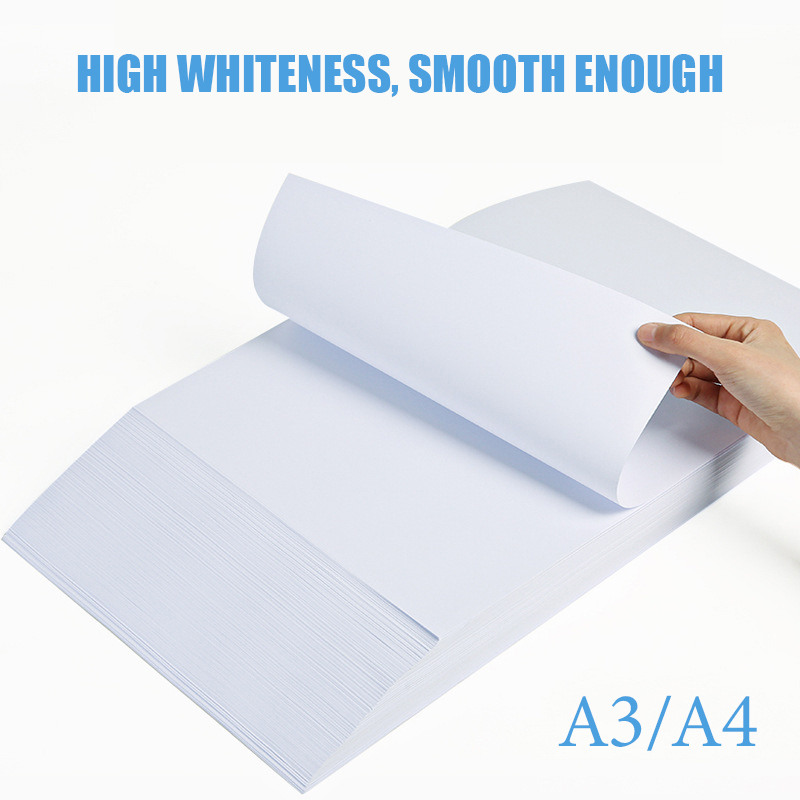 Hot A4 Printing And Copying Paper Box 70ga4 White Paper Attack 100 Pieces Of Office Paper Blank Adhesive Stencil Sheets Paper