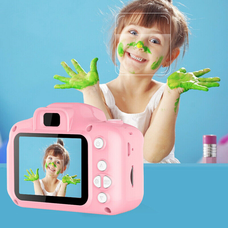 2 Inch HD Screen Chargable Digital Mini Camera For Kids Cute Cartoon Camera Toys Outdoor Photography Props