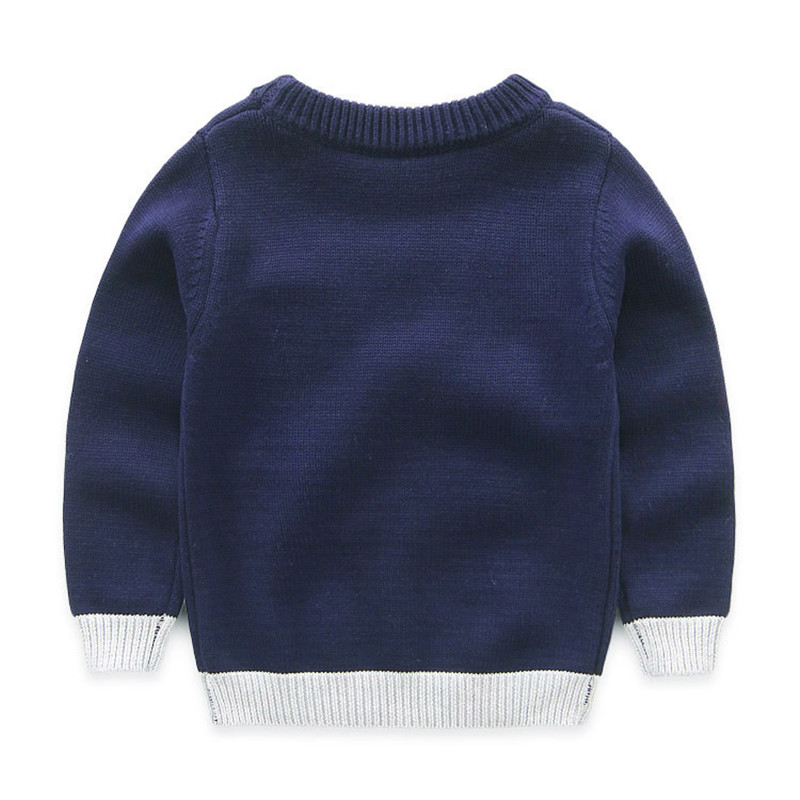 Boys Cotton Sweaters,Kids O-Neck Winter Clothes,Children Car Printed Casual Outerwear 2