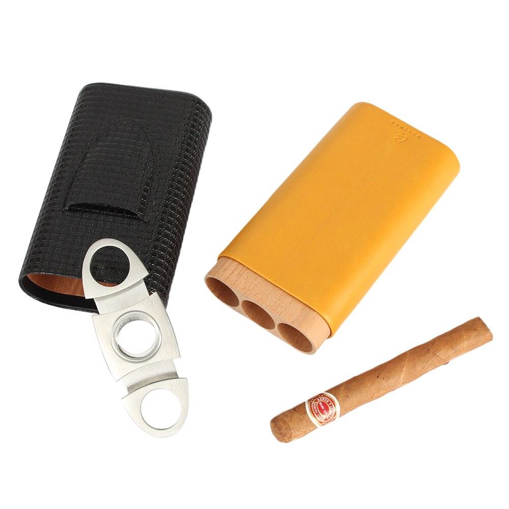 Купить galiner кожаный чехол дорожный увлажнитель для сигар коробка