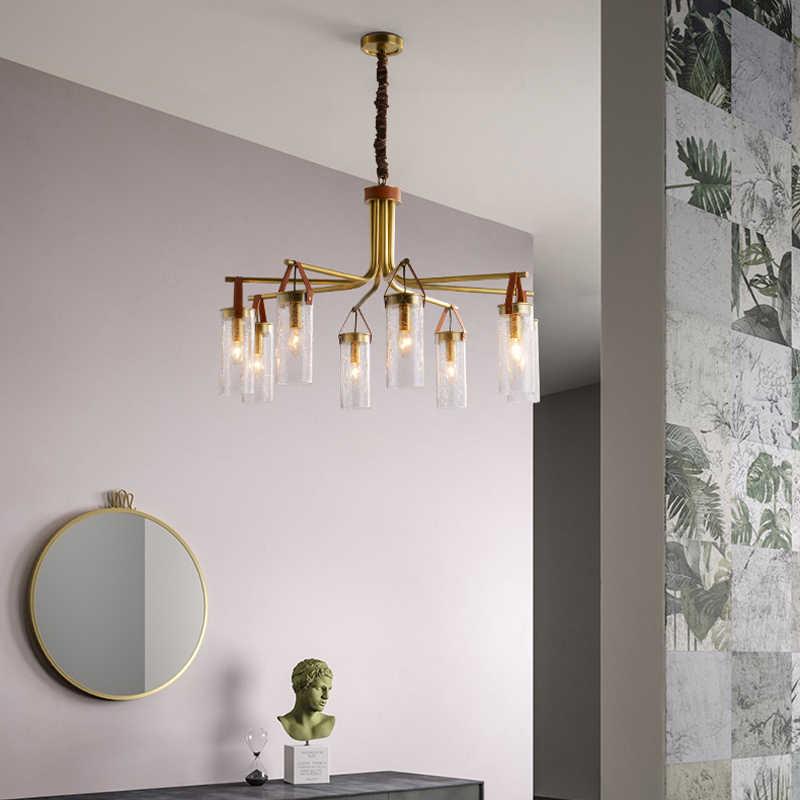 Modern Nordic Lampu Emas Lampu Gantung LED Lampu E Dison 6/8 Lampu Lampu Gantung Indoor Lampu Tidak Termasuk Bohlam