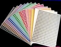 Pegatinas de punto para etiqueta, adhesivos de sello de círculo pequeño, producto de etiqueta adhesiva para regalo, 5x260 hojas/paquete