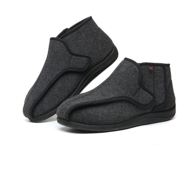 Widen New Wool Shoes Fat Swelling Deformation Hallux Valgus Foot Wide Elderly Diabetes Shoes Magic Warm Fleece Velcro Shoes