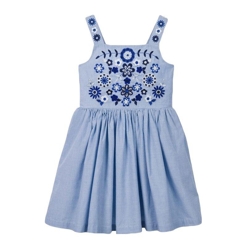 Little maven 2021 Dress Rainbow Colorful Girls Party Dresses for Kids Clothes Cotton Little Toddler Princess Dresses Vestido 5
