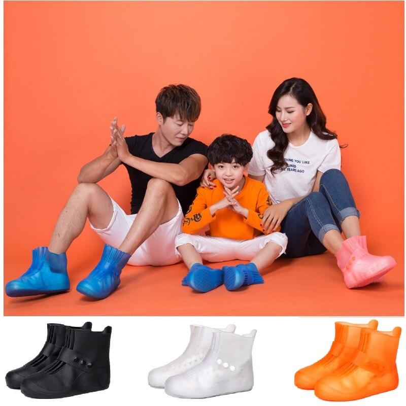 Teenagers Rain Boots Waterproof Rubber Boy Rain Shoe Covers For Men Galoshes Overshoes Women Shoe Protectors Durable Rainboots