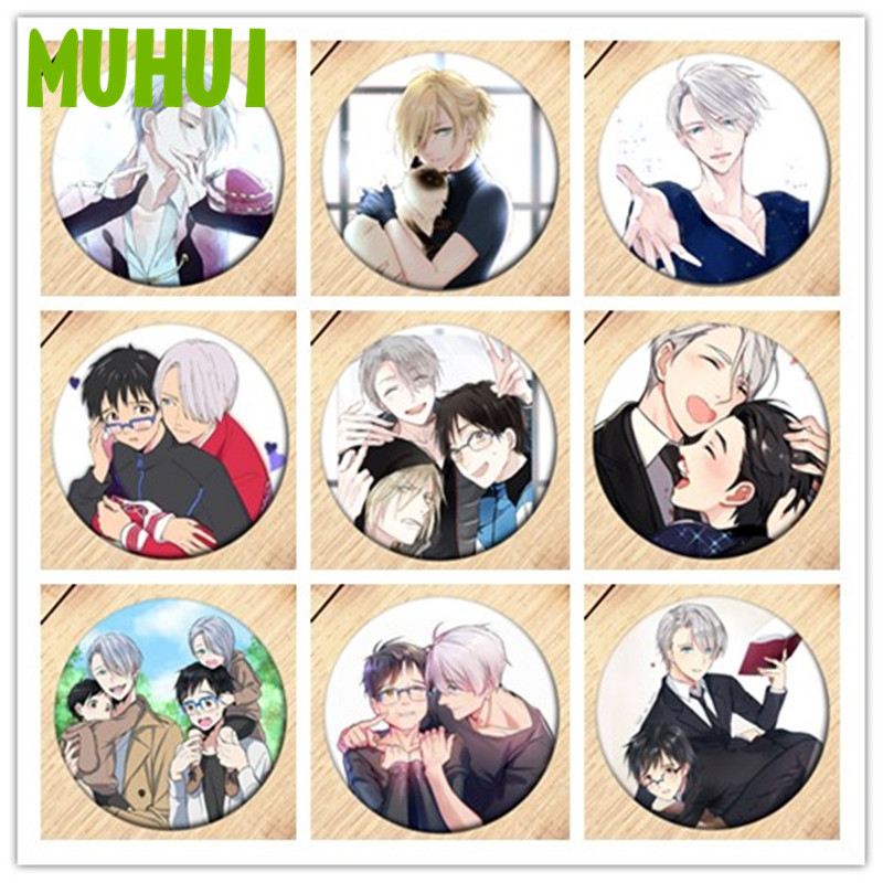 Anime YURI!!! On ICE Brooch Pin Cosplay Badge Accessories For Clothes Backpack Decoration Children's Gift Free Shipping  B011
