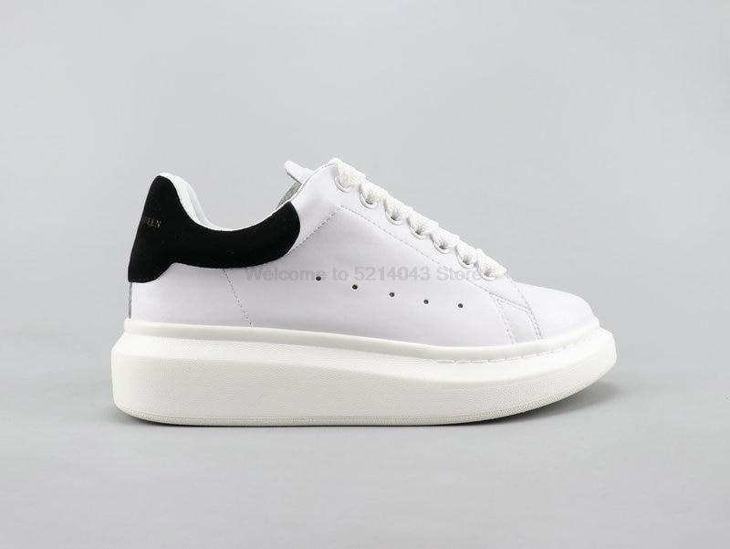 Alexander McQueen Alexander McQueen 3M riflettente gli uomini e le donne con la suola spessa scarpe bianche scarpe casual formato 35-44
