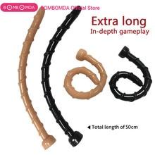 50cm Realistic Dildo Anal Plug Masturbator for Men long thread Penis Soft Flexib