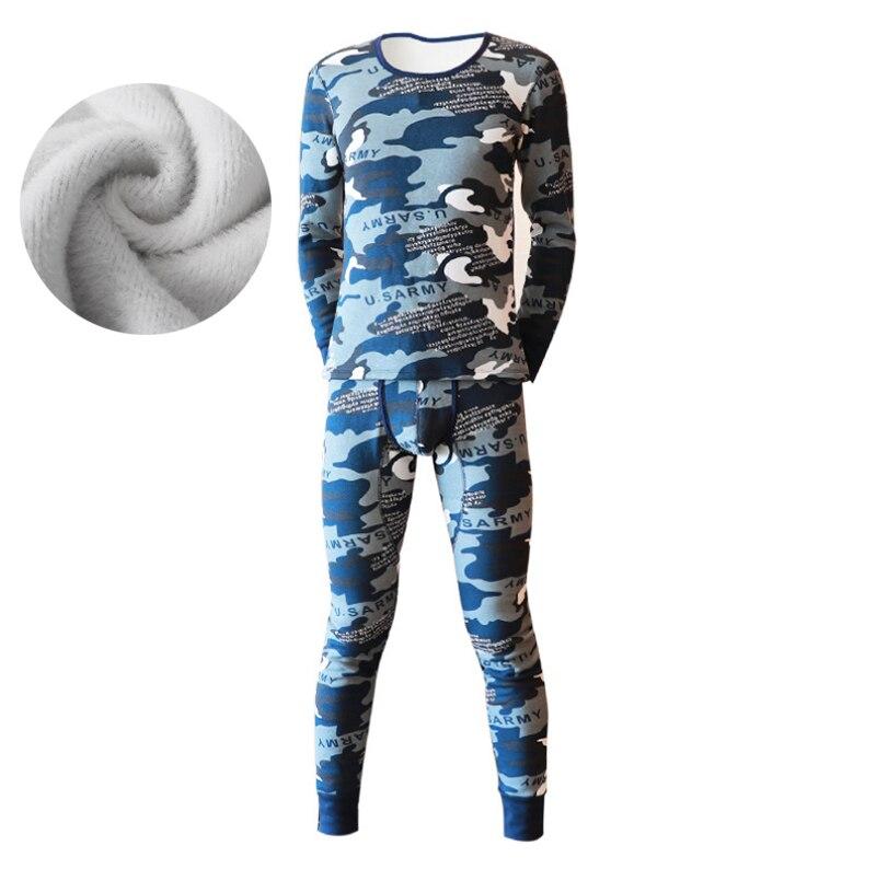 Autumn Winter Men Thicken Thermal Underwear Men Long Johns Velvet Soft Warm Suits Long Sleeve UnderShirt Pants 2 Pieces Set