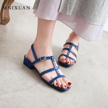 MNIXUAN Korean style sweet student gladiator sandals ladies