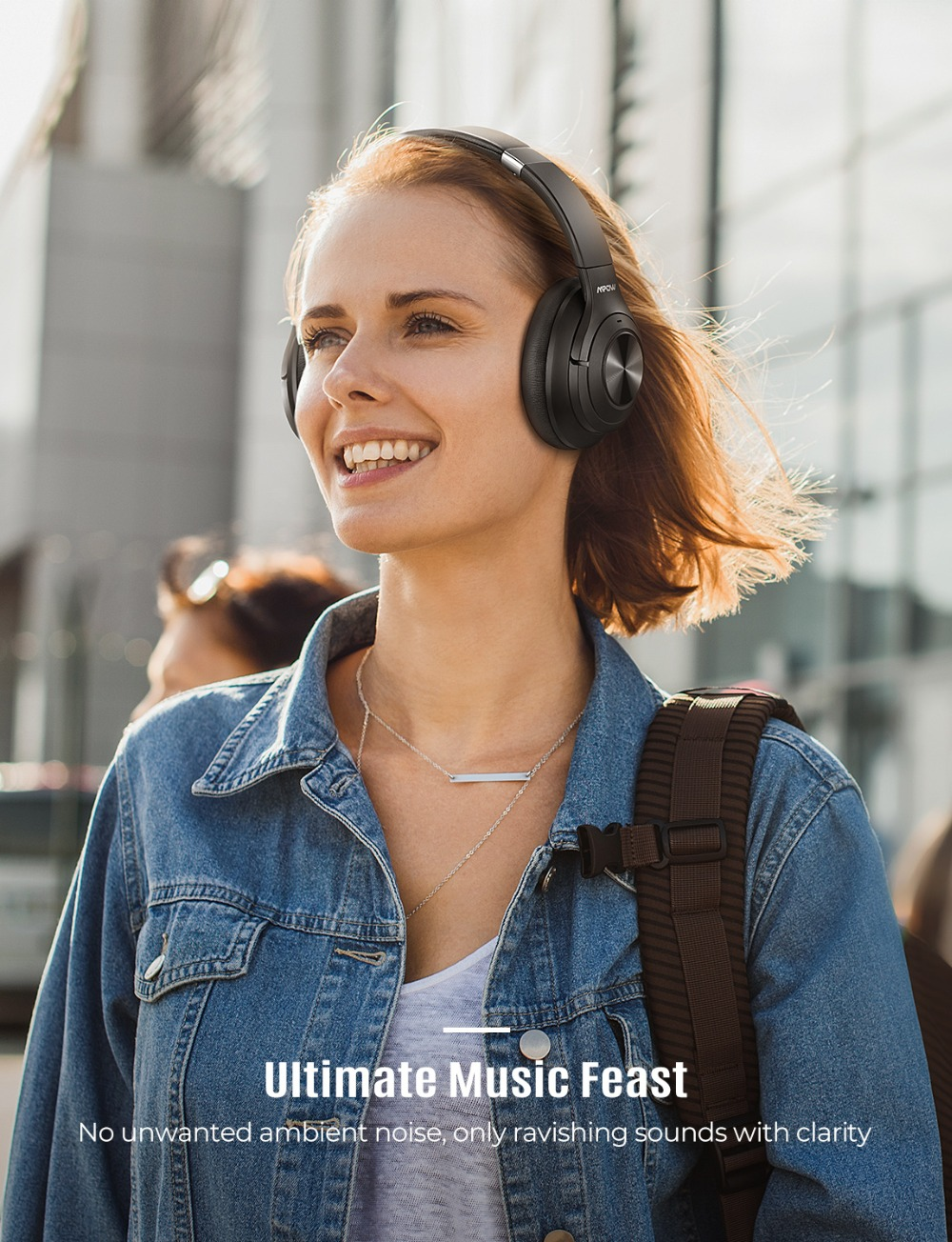 Mpow H21 Wireless Headphone Bluetooth 5.0 Noise Cancelling Headphone With 40 Hours Playtime CVC6.0 Mic Deep Bass For PC Phone (1)