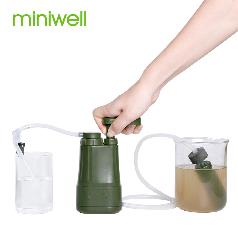 Outdoor Hiking Camping 0.01 Micron  Water Filter Pump