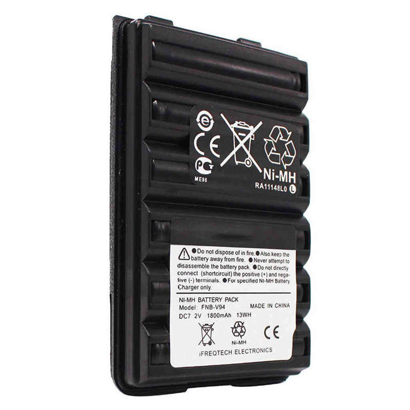 Fnb-V94 Fnb-83 Fnb-V57 1800Mah Battery For Yaesu Vertex Vx210 Vx400 Vx170 Ft-60