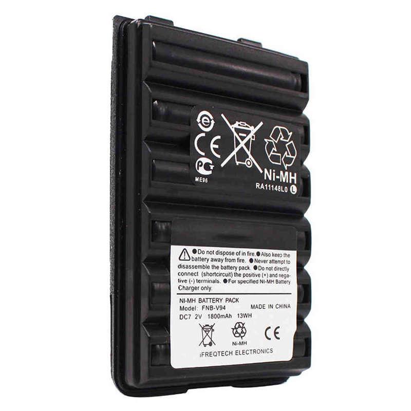 Fnb-V94 Fnb-83 Fnb-V57 1800Mah Battery For Yaesu Vertex Vx210 Vx400 Vx170 Ft-60
