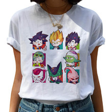 Dragon Ball Z Harajuku Funny T Shirt Women Kawaii Son Goku Anime T-shirt Super Saiyan Ullzang Tshirt 90s Graphic Top Tees Female(China)