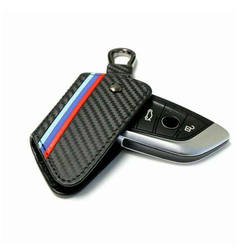 En Fiber De carbone En Cuir etui clés pour BMW X5 F15 X6 F16 G30 7 Série G11 X1 F48 F39