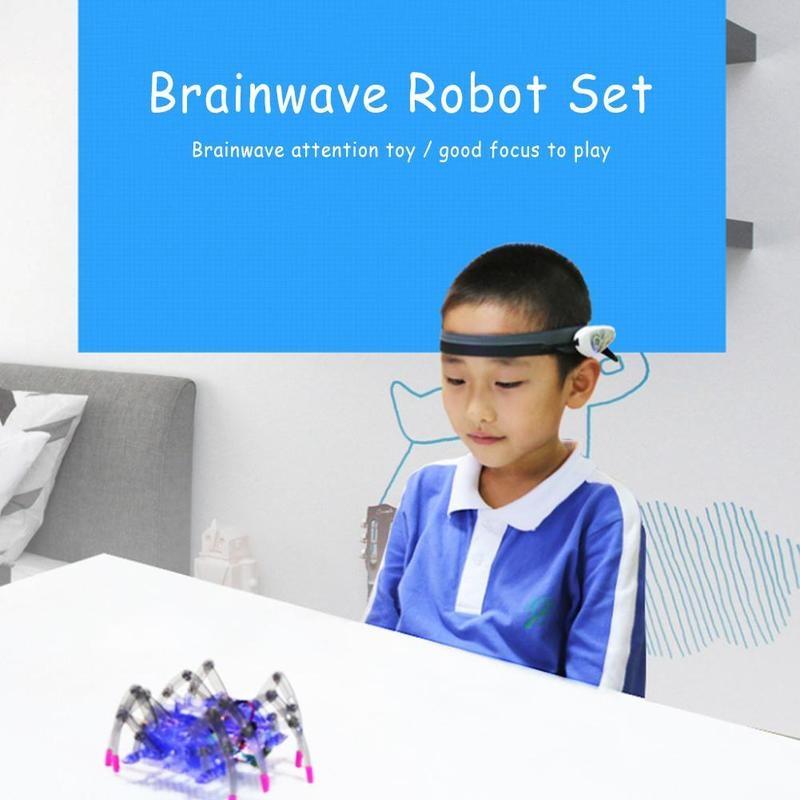 Children Educational Toys Brain Radio Wave Control DIY Spider Intelligence Robot Toys Brain Wave Detector Toy Spider Kids Gift