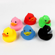 6 Pieces Sound Swimming Ducks Toddler Baby Bath Water Floating Toy