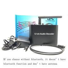 5.1 Audio Gear Digital Audio Decoder Bluetooth USB DAC Converter Optical SPDIF Coaxial AC3 DTS to 5.1CH Analog Audio DAC cm6631a digital interface 32 24bit 192k sound card usb to i2s spdif coaxial output support connect decoder upgrade dac