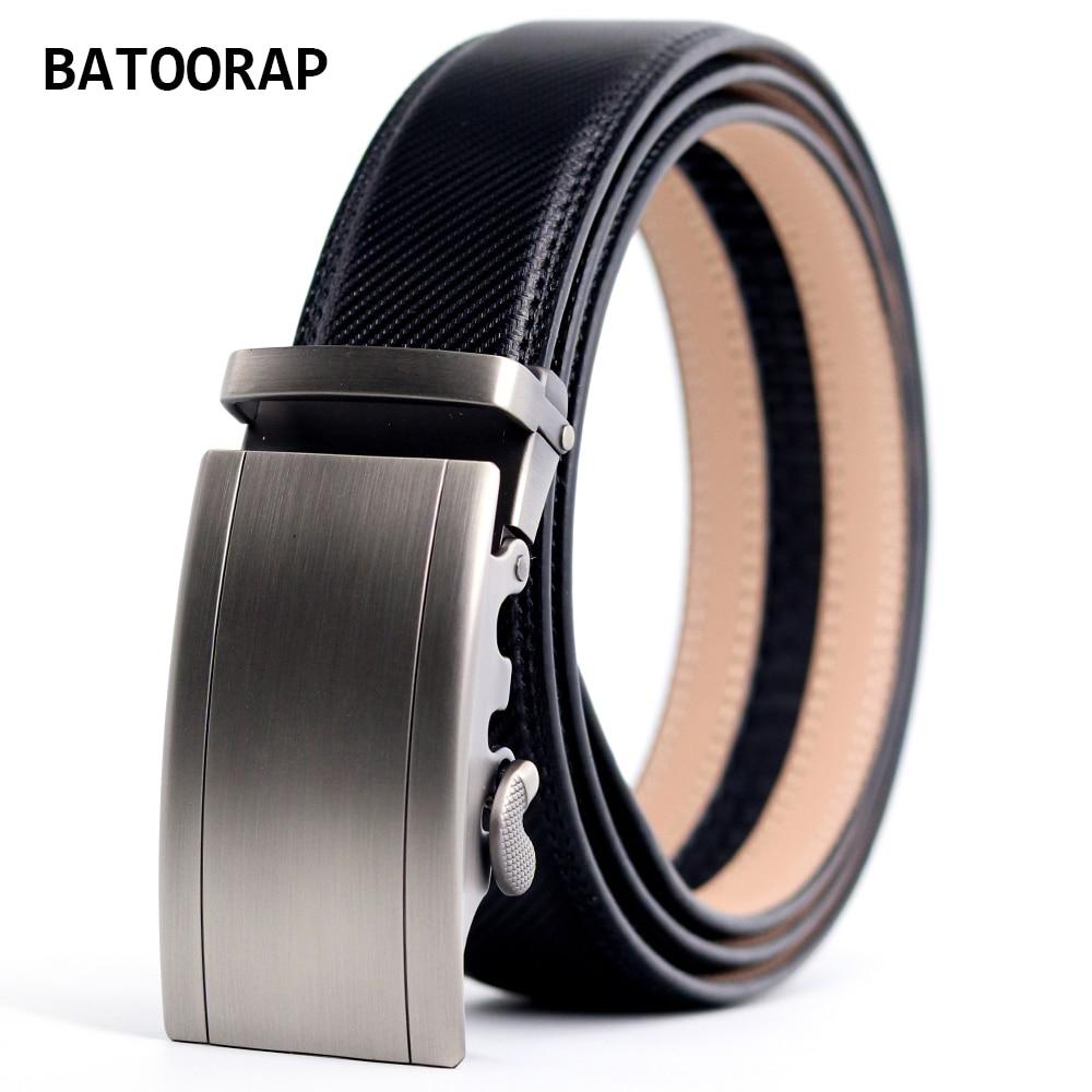 Men's Belt Leather Alloy Gray Auto Buckle Luxury Casual Trouser Belts Ratchet Black Waist Strap Male 3.5CM Width Fashion Belt