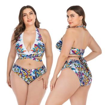 Push Up Bikini Sets Swimwear Women Swimsuit 2020 Plus Larges Size Bathing Swimming  Suits Beachwear For Famale Sexy Biquini Wear 8