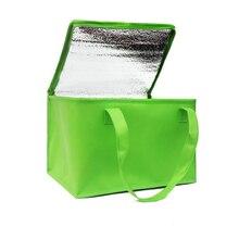 Складная Большая сумка-холодильник, переносная изолированная сумка для еды и торта, термобокс из алюминиевой фольги, водонепроницаемая упаковка для льда, Ланч-бокс, сумка для доставки
