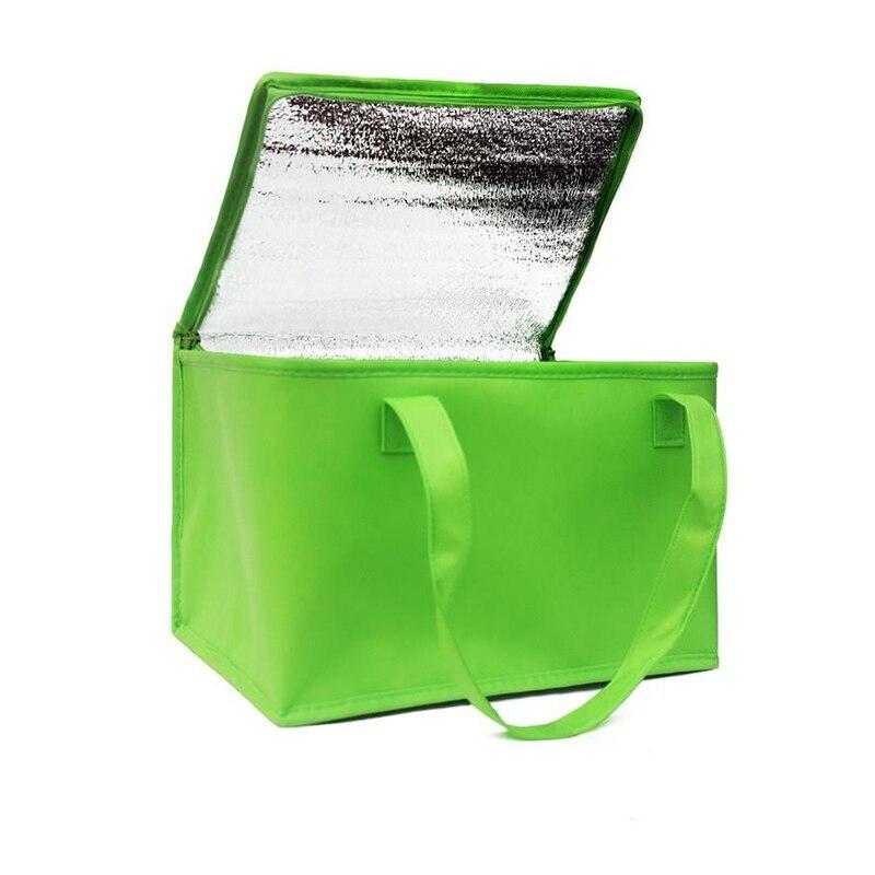 접이식 대형 쿨러 가방 휴대용 음식 케이크 절연 가방 알루미늄 호일 열 상자 방수 얼음 팩 도시락 배달 가방