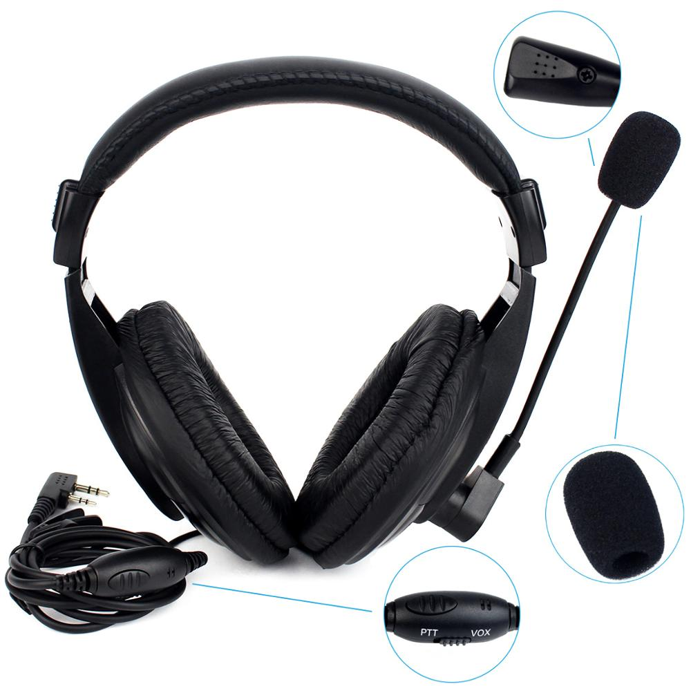 New 2 Pin Retevis R-114 VOX Headset Earpiece For RETEVIS/KENWOOD/BAOFENG/TYT/WOUXUN/PUXING Two Way Radio(Black)