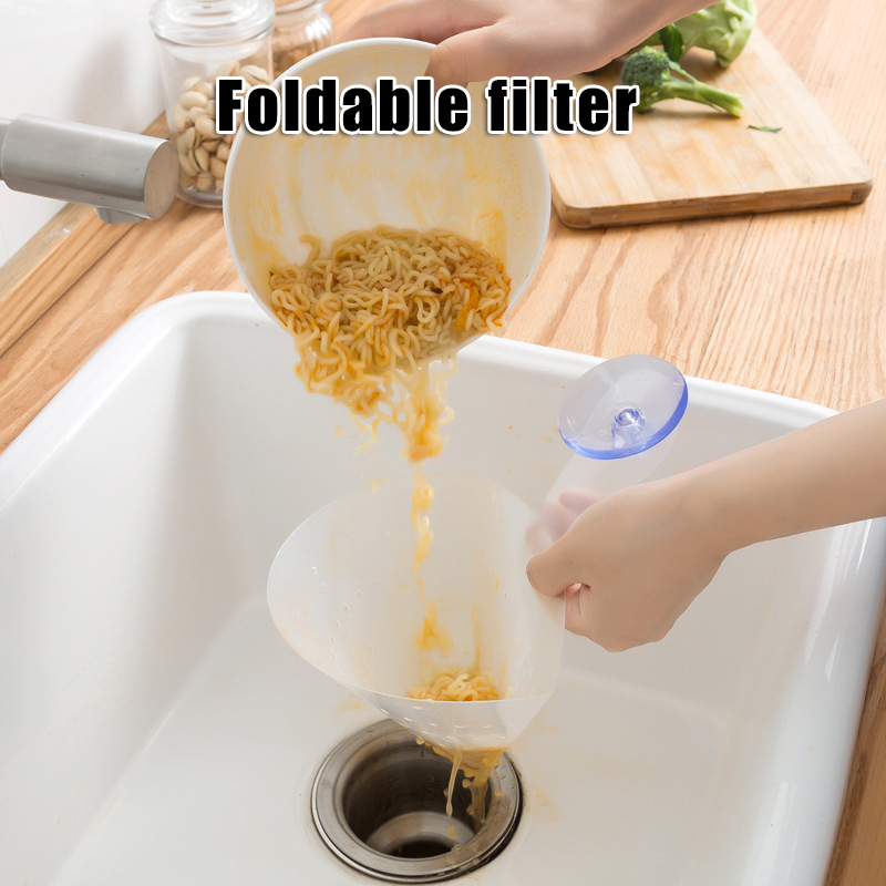 Foldable Filter Simple Sink Kitchen Self-standing Drain Anti-blocking YU-Home