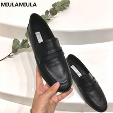 Women's Flats Moccasins Loafers Socofy-Shoes Slip-On Comfort Black Autumn Designer Casual