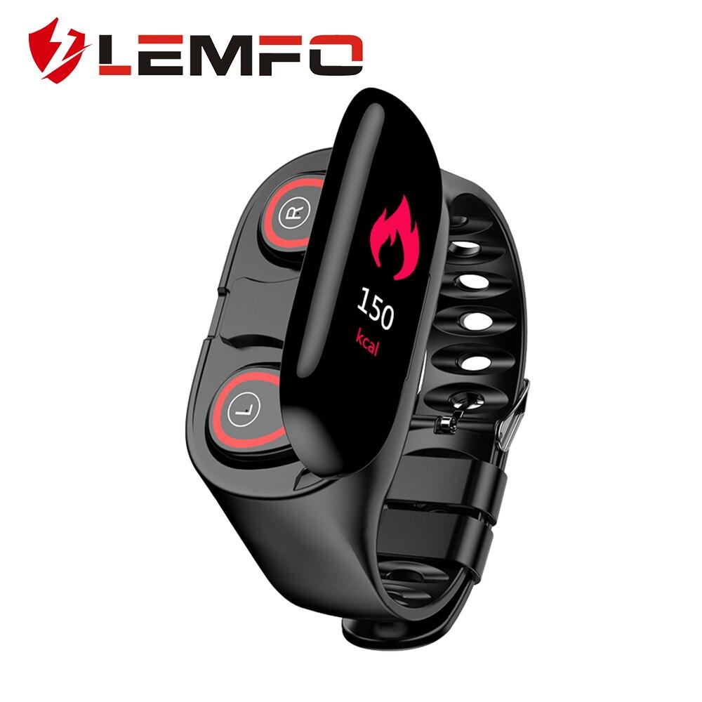 2019 Nieuwste AI Smart Horloge Mannen Vrouwen Bluetooth Hoofdtelefoon Bloeddruk Hartslag Monitoring LEMFO Smart Horloge voor Android IOS-in Smart watches van Consumentenelektronica op  Groep 1