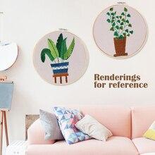 3D DIY Embroidery Cross Stitch Kits Plant Flower Patterns Ne