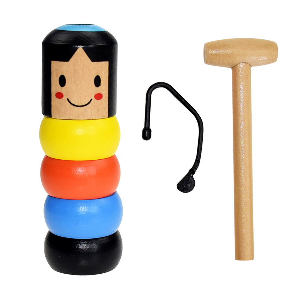 1set Immortal Daruma Unbreakable Wooden Man Magic Toy Magic Tricks Close Up Stage Magic Props Comedy Mentalism Fun Toy Accessory image