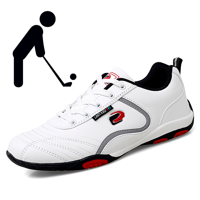 2021 Fashion Men Golf Shoes Track and Field Golf Training Sneakers Comfortable Walking Shoes White Black Outdoor Sneakers Men