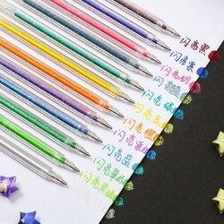 8/12 Bling Color Glitter Marker Pen Set 1.0mm Ballpoint Metallic Drawing Pens for Highlight Journal Lettering Art School A6077