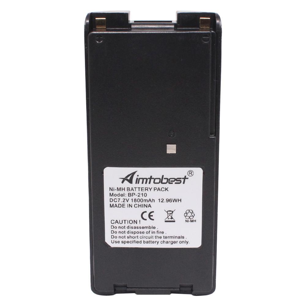 BP210 BP-210N BP-209 1800mAh NI-MH Battery For ICOM IC-V8 IC-V82 IC-A24 IC-A6 IC-F3G IC-F30 IC-F40 IC-F11 IC-F22 IC-F4G Radio