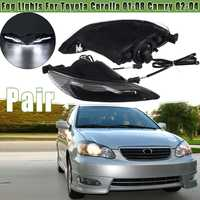 Pair Front LED Fog Lights Lamps For Toyota Corolla 2001 2002 2003 2004 2005 2006 2007 2008 for Camry 2002 2003 2004 Car Light